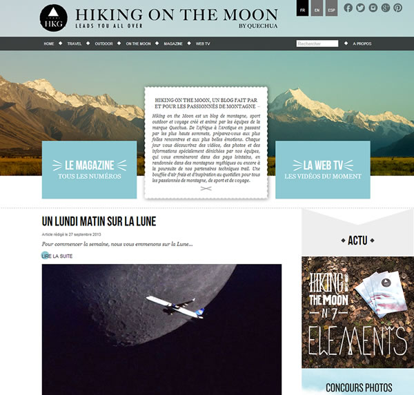 Blog Hiking On The Moon