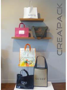 Exemple de sacs réutilisables de la société Crea'Pack